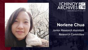 Norlene Chua now a Junior Research Assistant