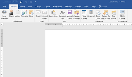 LawPro Intergrated in MS Office