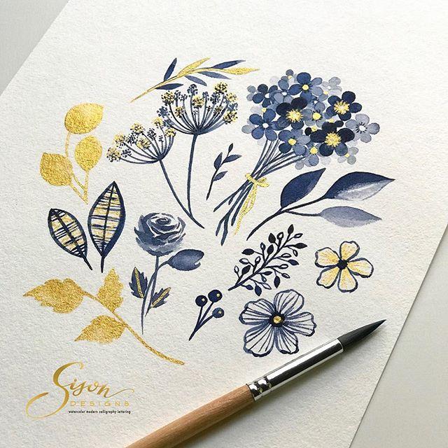 Blue & Gold Elements