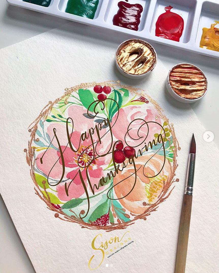 Florals & Lettering