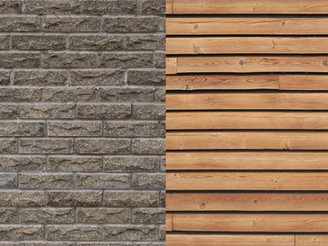 Weatherboard Wall and Brick Wall