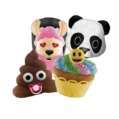emoji plush squeezeables jumbo assorted