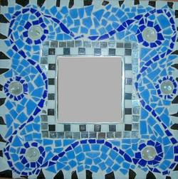 Spiegel mit Mosaiktechnik