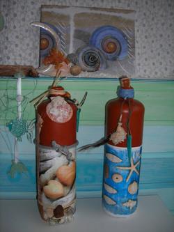 Serviettentechnik mit Meeresdeko