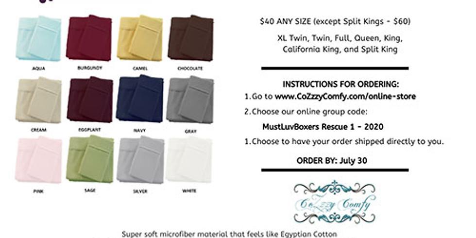 CoZzzy Comfy Virtual Bed Sheet Fundraiser