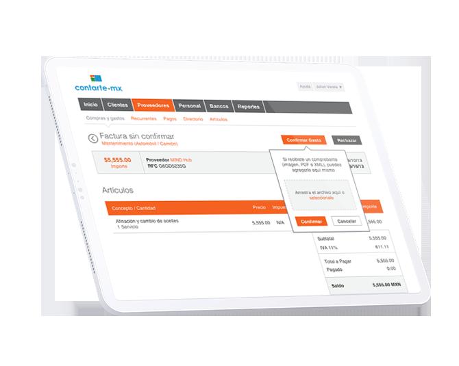 Contarte | Software contable para pymes y profesionistas independientes