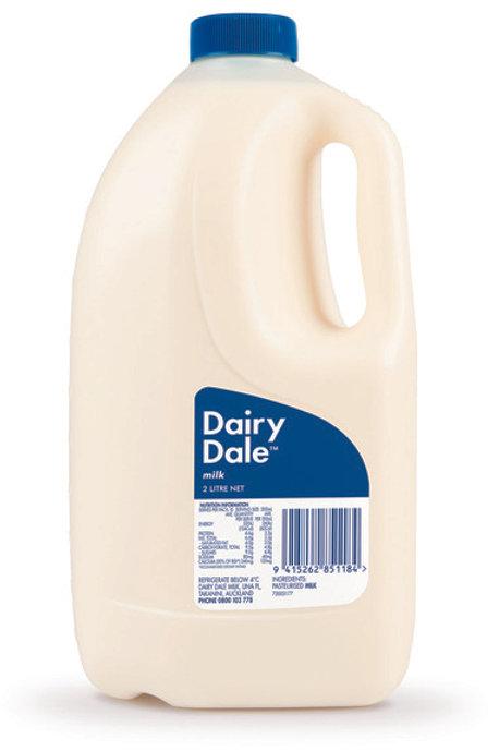 Dairy Dale 2 litre milk