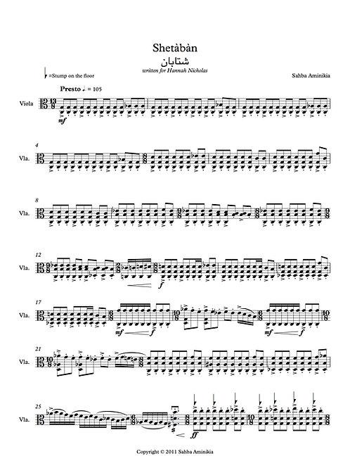 Shetaban (2011) for viola solo