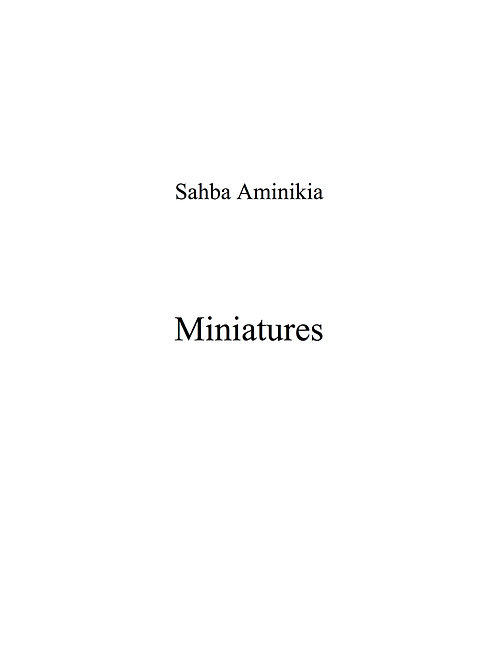 Miniatures  (2009) - for viola and piano