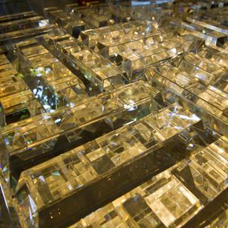 Crystal Bullion installation bricks