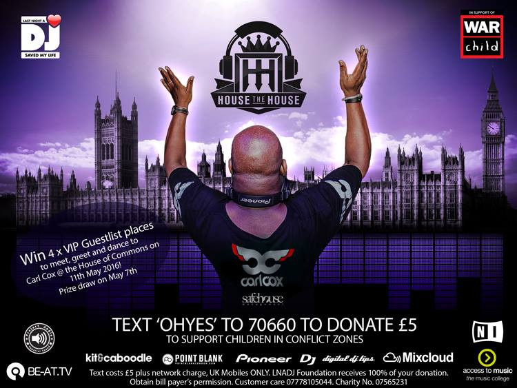 Kit and Caboodle - Carl Cox DJ's at the House of Commons for Last Night a DJ Saved My Life Flyer