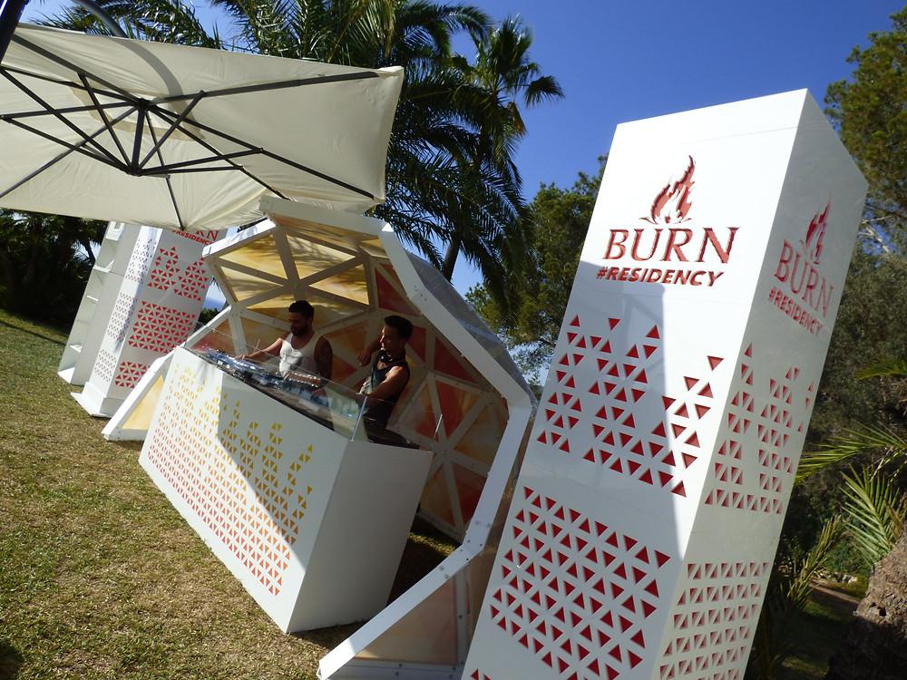 Burn Residency DJ set Ibiza 2016 designed by Kit and Caboodle