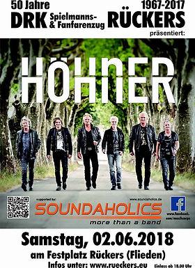 Support bei der Kölner Kultband Höhner