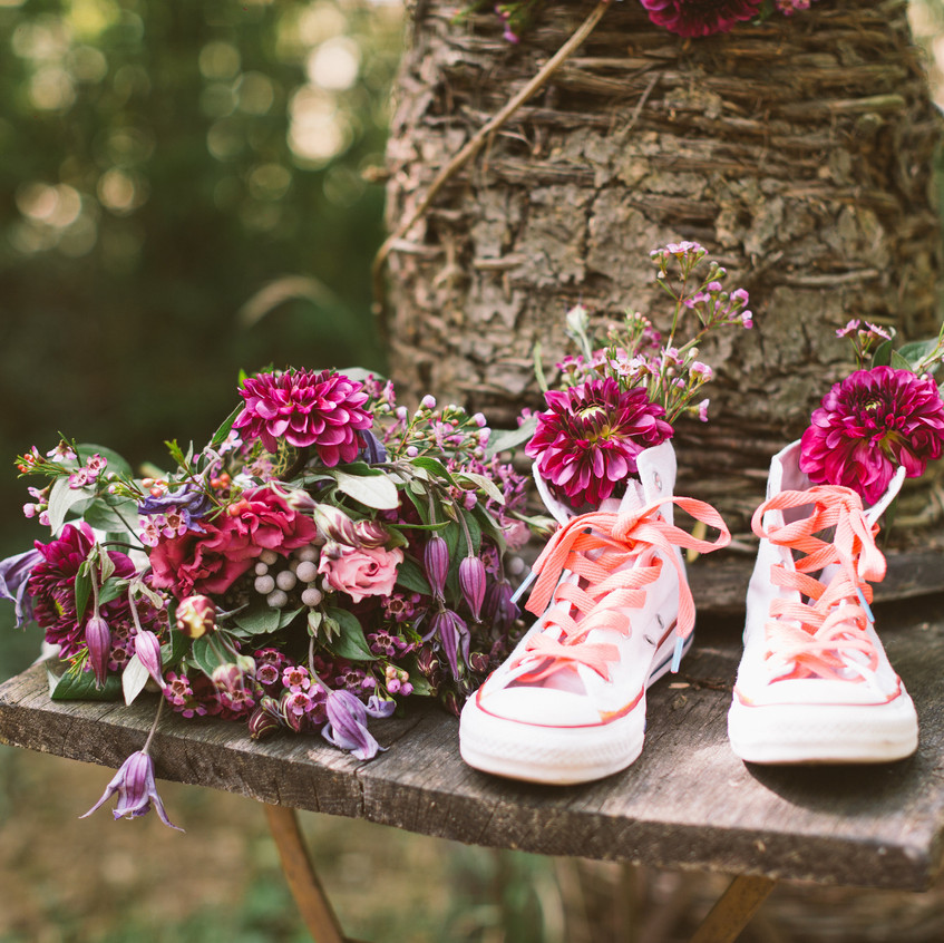la mariée en baskets - baskets mariage - ally pop - wedding planner - mael lambla - wedding photographer