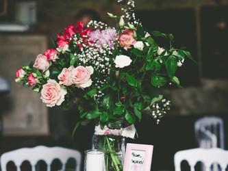 Centre et décoration de table mariage