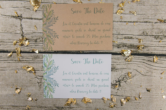 Save the date Wild Green