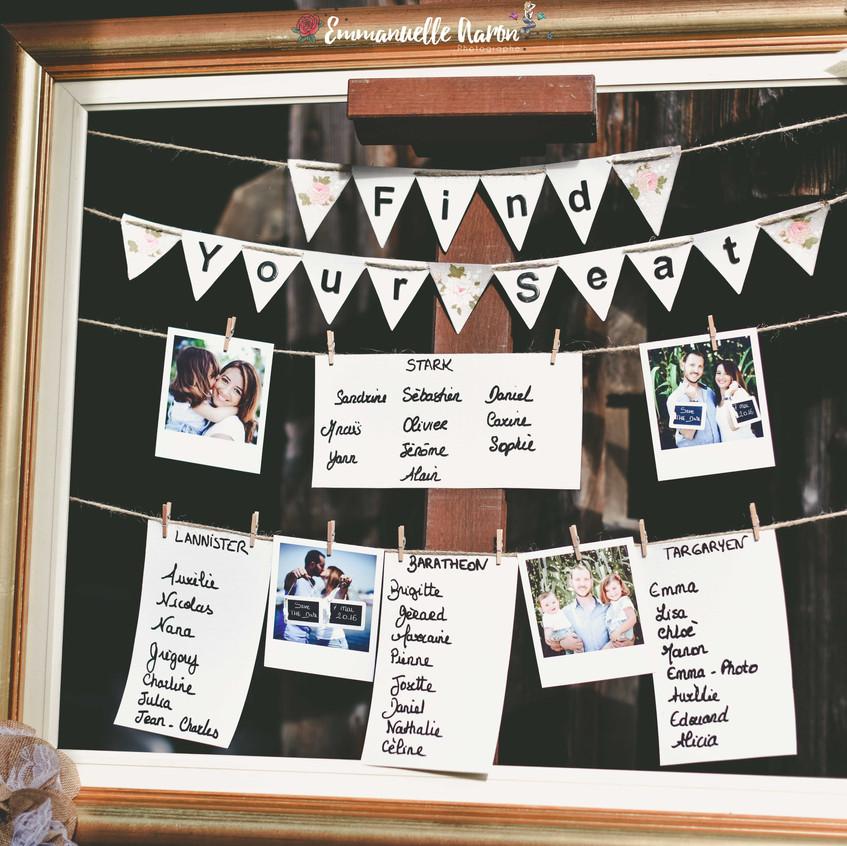 plan de table mariage - mariage champêtre - wedding planner paris - wedding planner seine et marne - ally POP