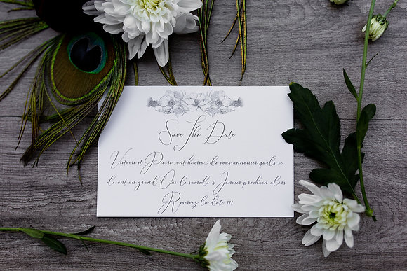 Save the date Calligraphie Chic