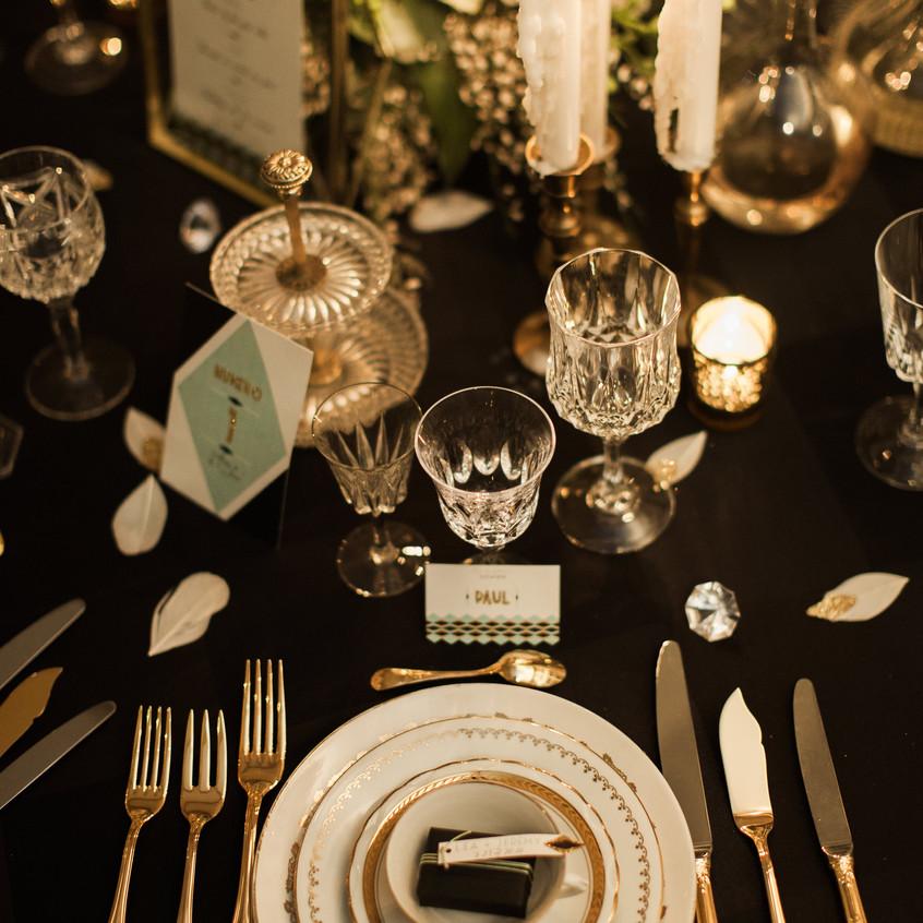centre de table mariage - mariage gatsby - mariage rétro- ally POP - Céline Chan - wedding planner paris - wedding planner seine et marne
