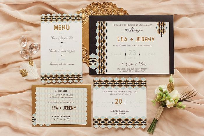 menu mariage - papeterie mariage - ally pop - wedding planner paris - celine chan - studio quatre mains