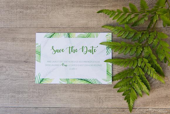Save the date Jungle Mood