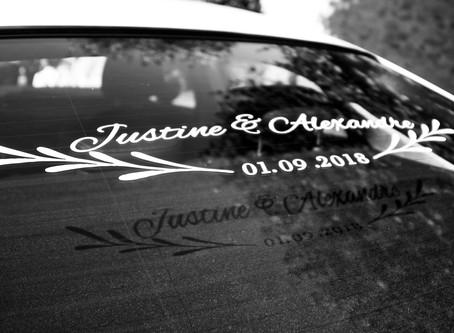 Reportage mariage : Justine & Alexandre - 1er septembre 2018