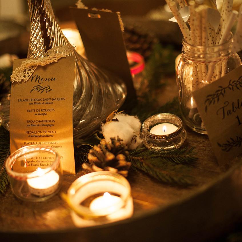 centre de table mariage - mariage hiver - Ally POP - wedding planner paris - wedding planner seine et marne
