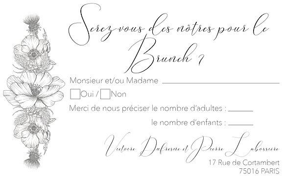 Invitation Brunch Calligraphie Chic