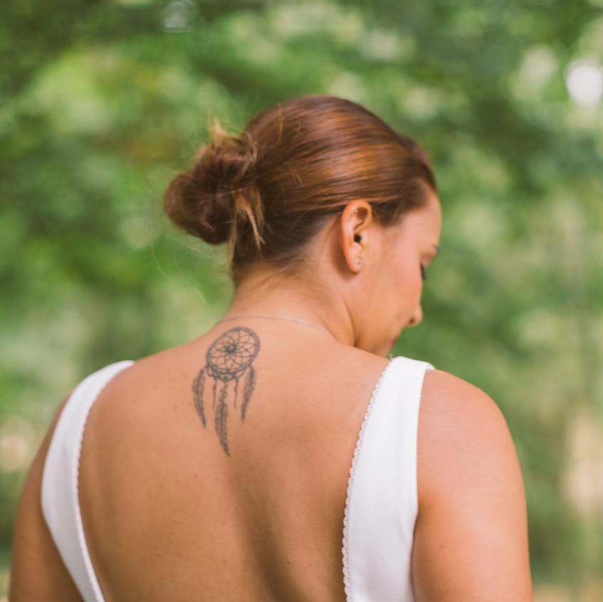 mariée tatouée - mariage nature - ally pop - wedding planner paris - wedding planner seine et marne