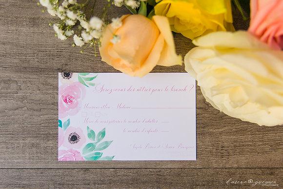 Invitation Brunch Romantique
