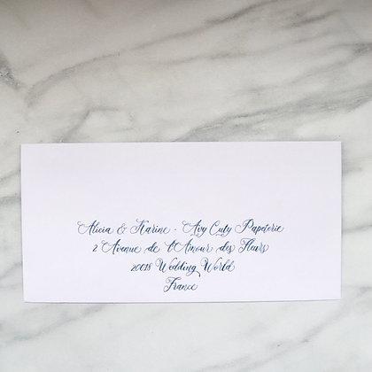 Enveloppe calligraphiée