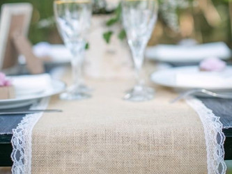 Inspiration mariage Toile jute