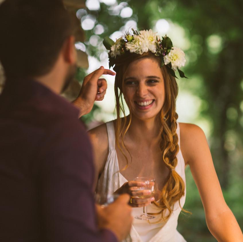 couronne de fleurs mariée - wedding planner paris - organisation mariage - mariage bohème