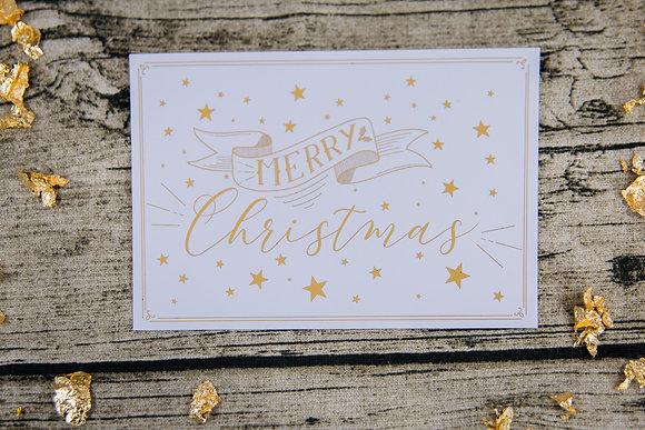 Carte de Noël Merry Christmas