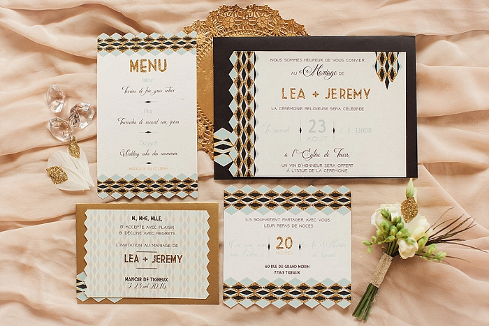 mariage plume - mariage gatsby - mariage rétro - ally pop - wedding planner - celine chan