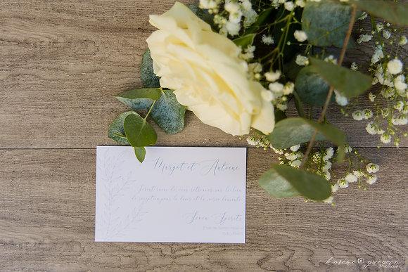 Invitation Repas Organic