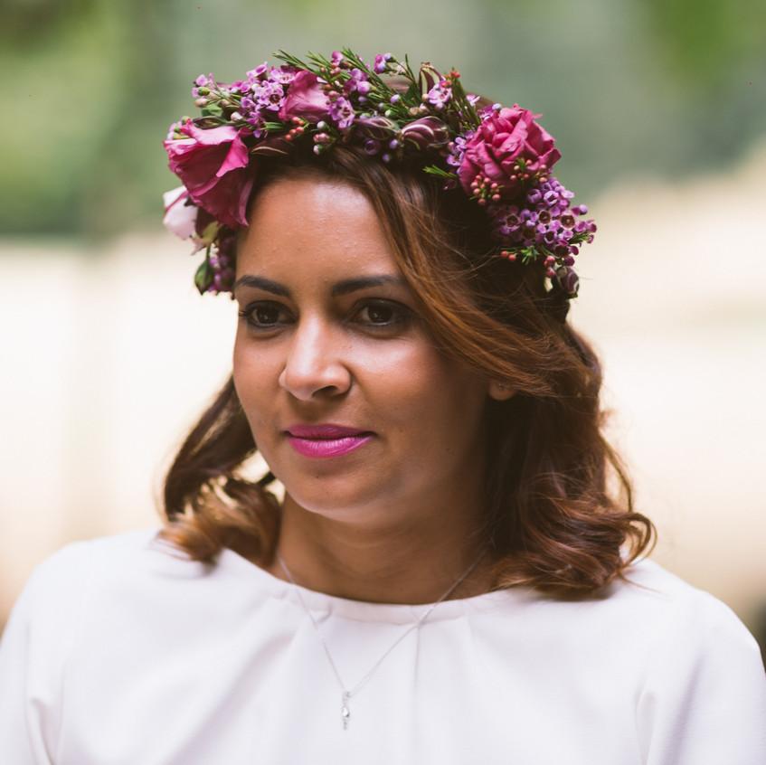 couronne de fleurs mariée - wedding planner paris - organisation mariage - mariage nature