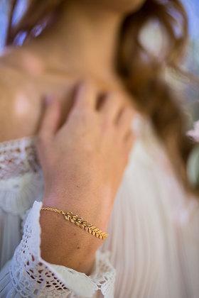 Bracelet chevrons feuillage