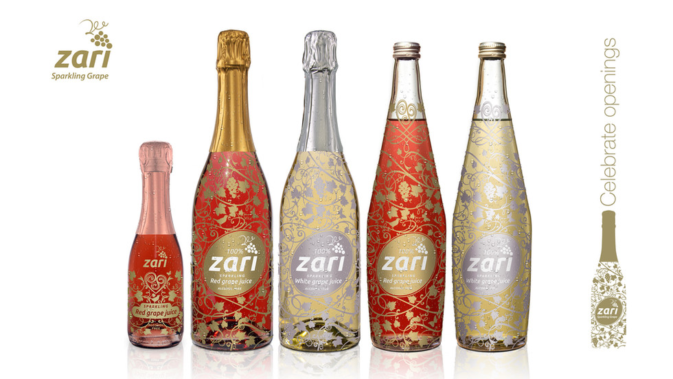 Zari Sparkling Grape packaging