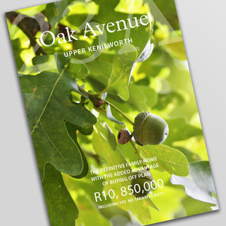 Oak Ave brochure cover