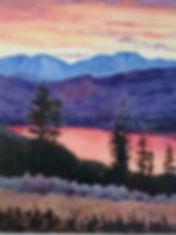 Sunset on Osoyoos Lake oil 12x10.jpg