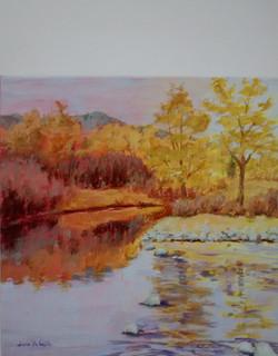 fall light on okanagan river
