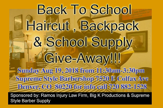 Free Haircuts, backpacks and school supplies!!!
