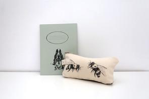 Hushpuppie notebook, 48NIS, Bees pencil case, 75NIS