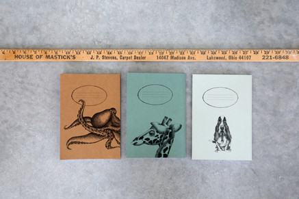 Octopuse, Giraffe and Hushpuppie notebooks, 48NIS
