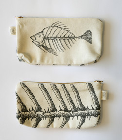 Fish skeleton pencil case, 75NIS
