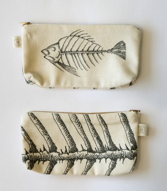 Fish skeleton pencil case, 75NIS