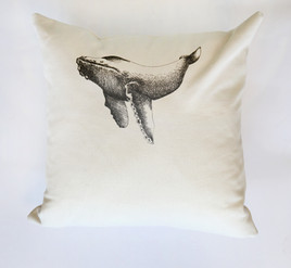 humpback whale pillow, 180NIS