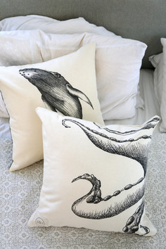 Humpback whale and Octopuse pillows, 180NIS