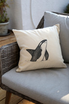 Orca whale pillow, 180NIS